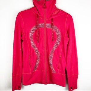 Lululemon - stretch logo front jacket size: 8